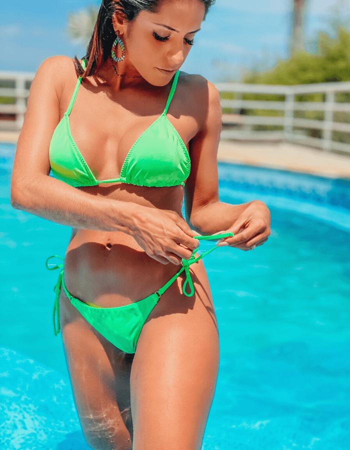 Biquíni Alimos Verde Neon