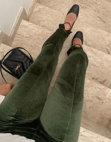 Legging Veludo Zíper